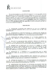 23. Convocatoria Junta de Gobierno Local 28.12.2015