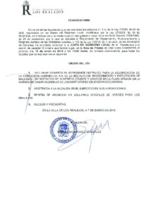 01. Convocatoria Junta de Gobierno Local 11.01.2016