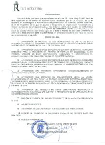 02. Convocatoria Junta de Gobierno Local 25.01.2016