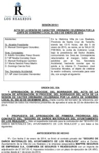 01. Acta Junta de Gobierno Local 05.01.2015