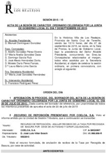 15. Acta Junta de Gobierno Local 07.09.2015
