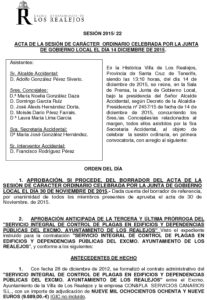 22. Acta Junta de Gobierno Local 14.12.2015