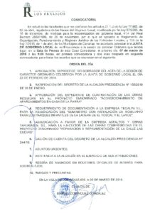 05. Convocatoria Junta de Gobierno Local 07.03.2016