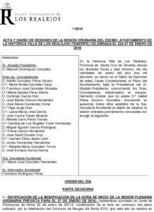 01.  Acta Pleno Ordinario 27.01.2016