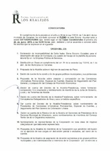 10. Convocatoria Pleno Extraordinario 25.06.2016