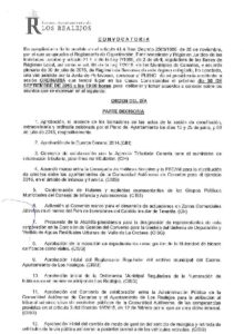 12. Convocatoria Pleno Ordinario 30.09.2015