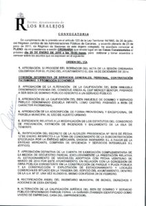 01. Convocatoria Pleno Ordinario 29.01.2015
