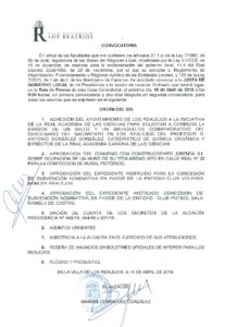 09. Convocatoria Junta de Gobierno Local 18.04.2016