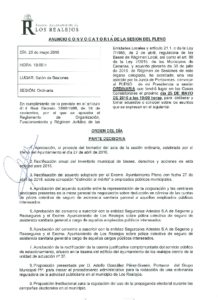 06. Convocatoria Pleno Ordinario 25.05.2016