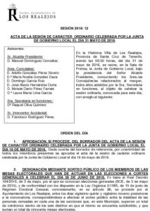 12. Acta Junta de Gobierno Local 31.05.2016