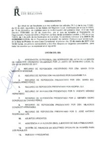 02 Convocatoria Junta Gobierno Local 23.01.2017