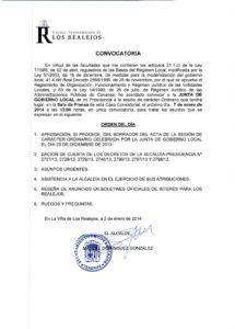 01. Convocatoria Junta de Gobierno Local 07.01.2014