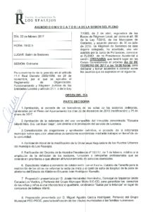 02. Convocatoria Pleno Ordinario 22.02.2017