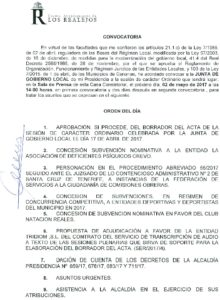 09 Convocatoria Junta Gobierno Local 02.05.2017