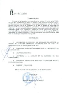 10  Convocatoria Junta Gobierno Local 15.05.2017