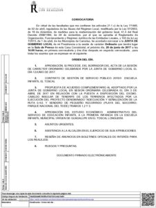 13  Convocatoria Junta Gobierno Local 26.06.2017