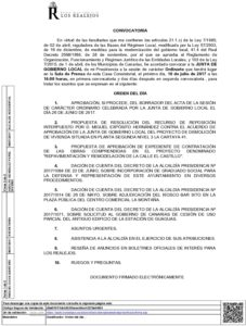 14  Convocatoria Junta Gobierno Local 10.07.2017