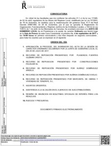16 Convocatoria Junta de Gobierno Local 04.09.2017.