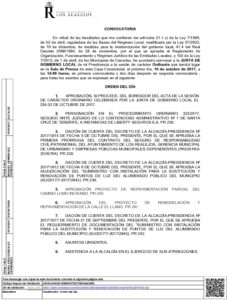 19 Convocatoria Junta Gobierno Local 16.10.2017
