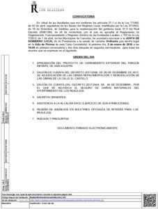 01. Convocatoria Junta de Gobierno Local 08.01.2018