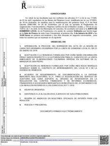 3  Convocatoria Junta Gobierno Local 05.02.2018