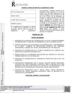 02. Convocatoria Pleno Ordinario 28.02.2018