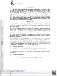 03. Convocatoria Junta Gobierno Local 03.02.2017