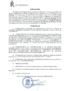 19. Convocatoria Junta de Gobierno Local 04.11.2015