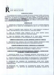 07. Convocatoria Pleno Ordinario 29.05.2014