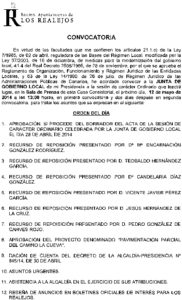 10. Convocatoria Junta de Gobierno Local 12.05.2014