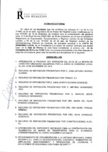 22. Convocatoria Junta de Gobierno Local 24.11.2014