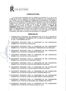 05. Convocatoria Junta de Gobierno Local 03.03.2014