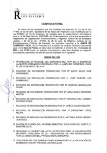 12. Convocatoria Junta de Gobierno Local 09.06.2014