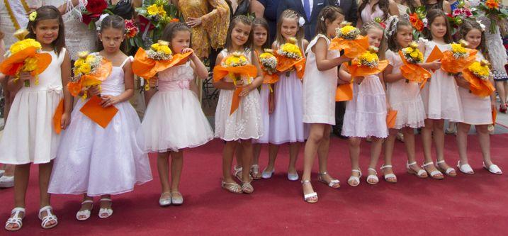 Candidatas infantiles a Reina y Princesa del Mar Fiestas del Carmen 2014