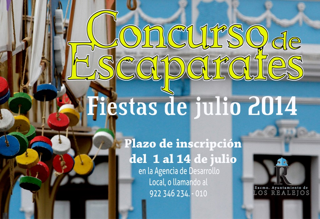 Cartel concurso de escaparates Fiestas del Carmen