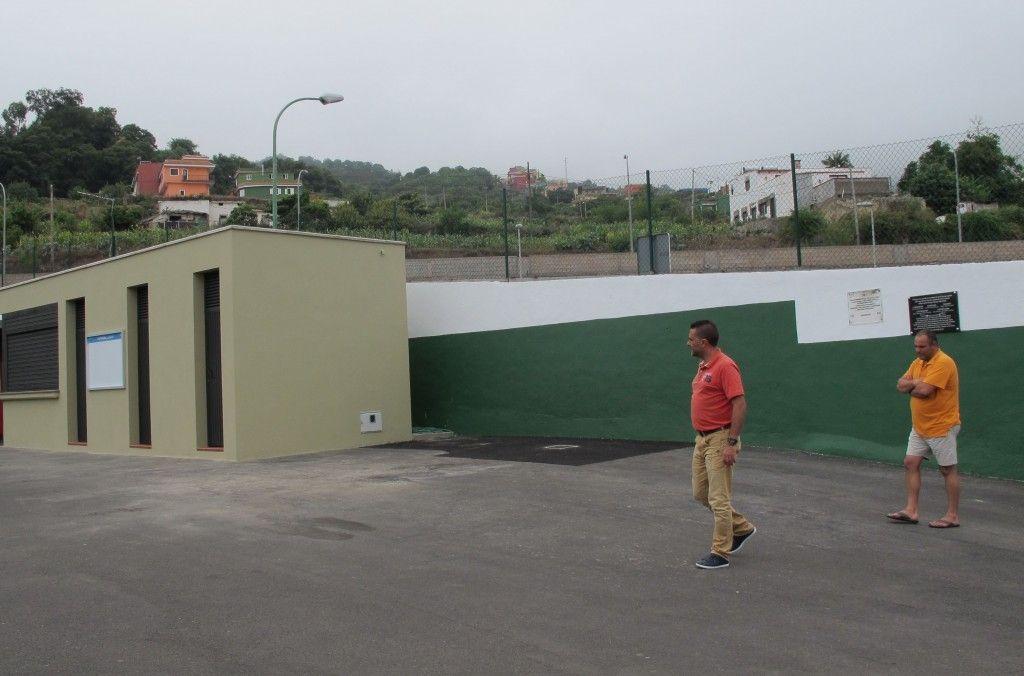 200814 Concejal Deportes visita estadio El Cercado Palo Blanco obras mejora verano