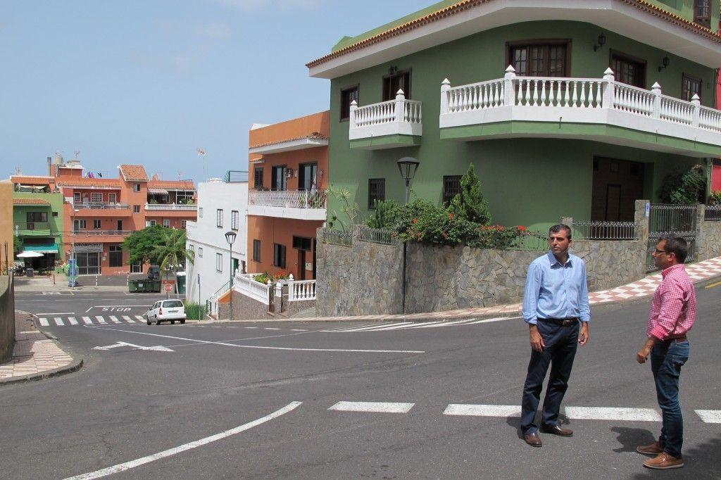 280814 Alcalde y Adolfo visita zona La Zamora Grimona previa obra Plan de Barrios canalizaciones y repavimentacion