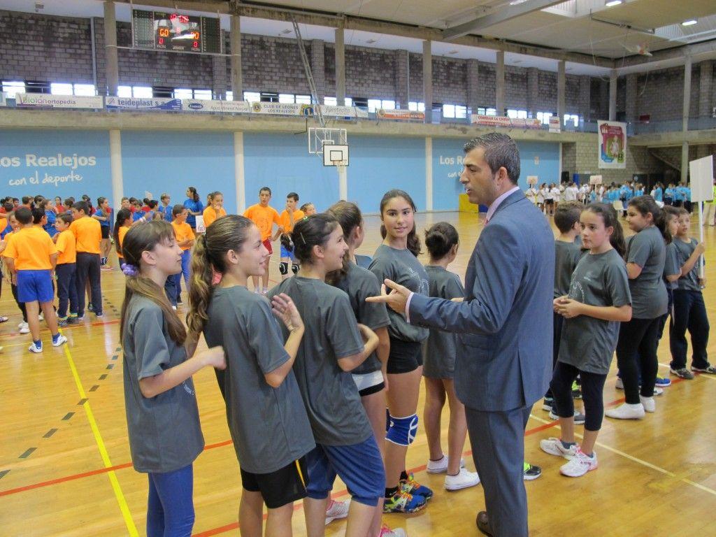 071114 Ceremonia inaugural II Miniolimpiadas con alcalde