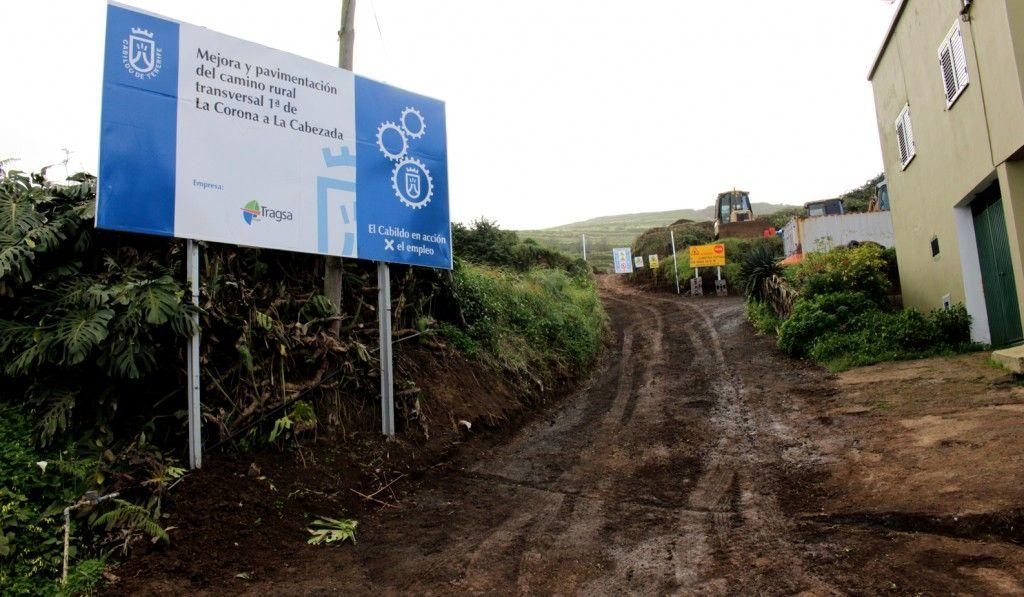 260215 Obra Cabildo camino rural La Corona a La Cabezada