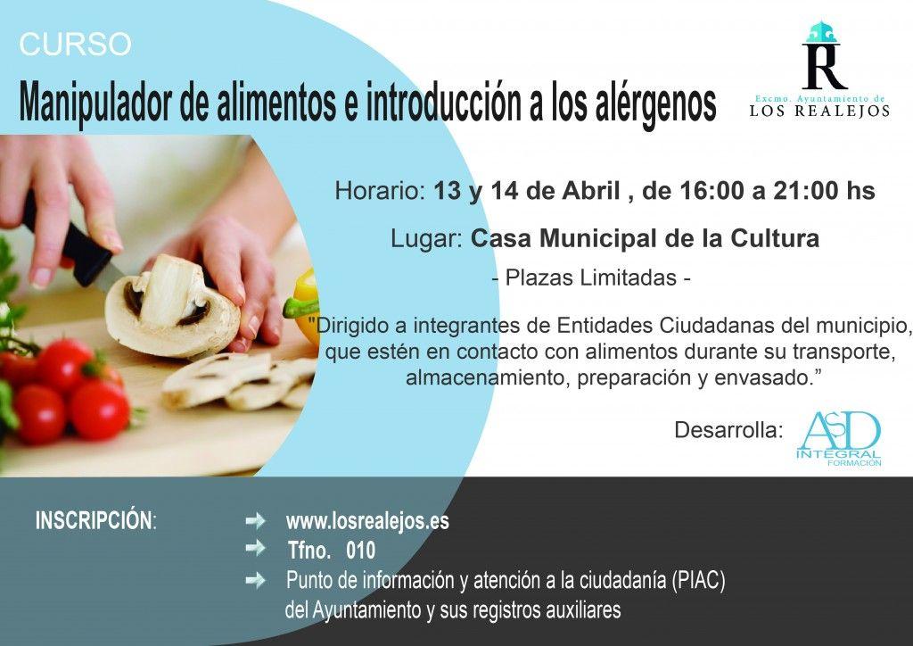 curso de manipulador de alimentos e introducción a los alérgernos