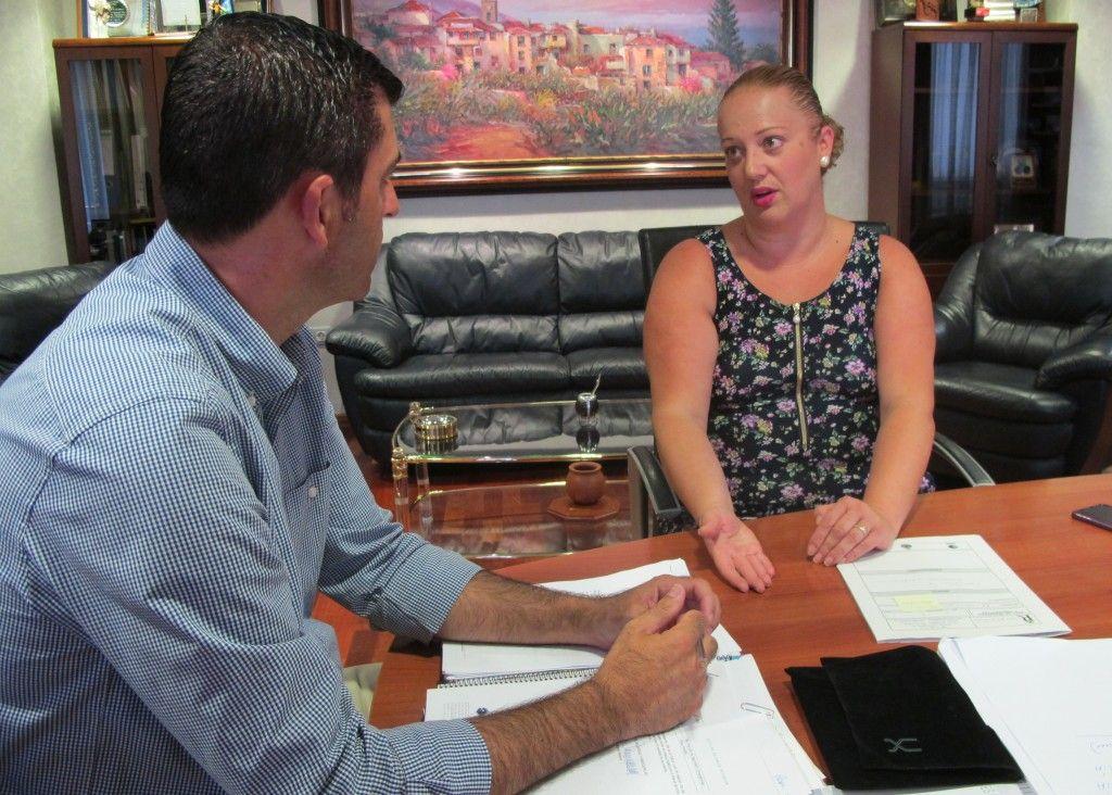 260816 Reunion alcalde y concejala Olga ayudas al alquiler de viviendas