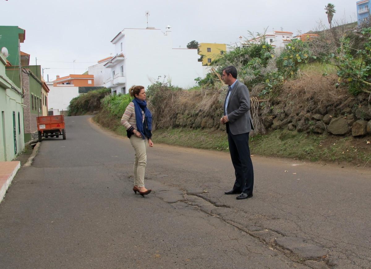 130317 Plan de Barrios visita previa obra acondicionamiento Camino Real Icod el Alto