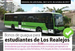 CARTEL SOLICITUD BONOS DE TRANSPORTE ESTUDIANTES 2017 2018
