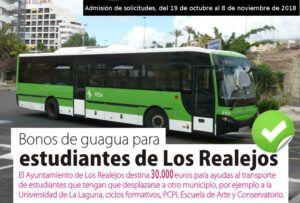 CARTEL SOLICITUDES BONOS DE TRANSPORTE ESTUDIANTES 2018 2019