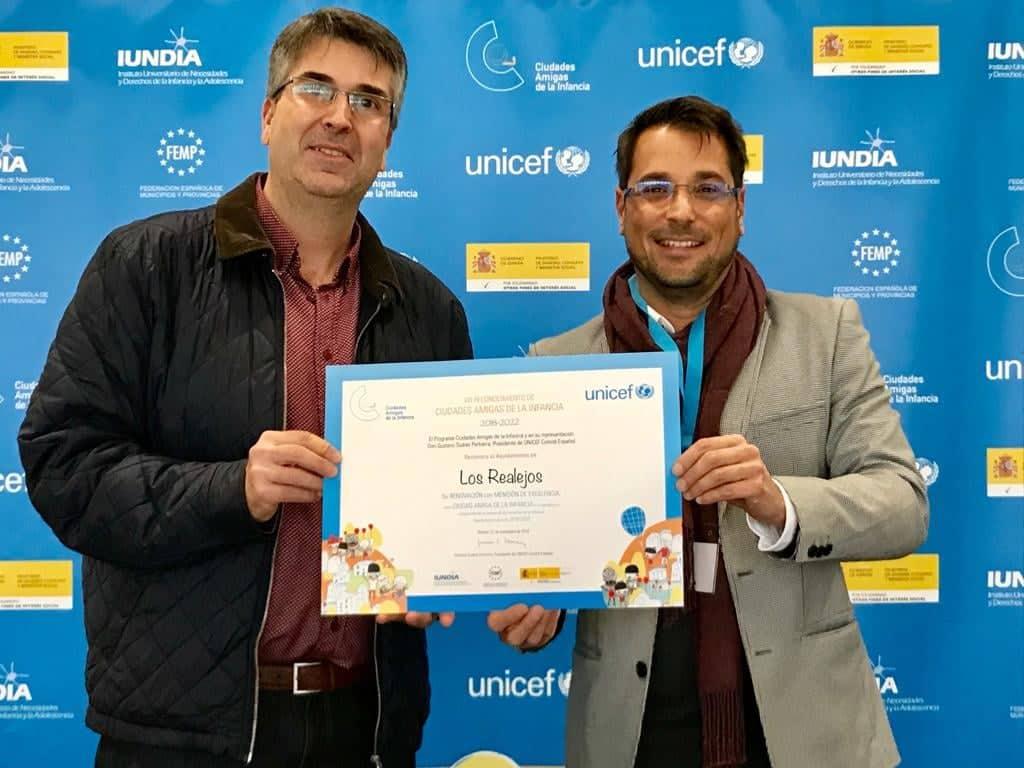 271118 Entrega reconocimiento Ciudad Amiga de la Infancia excelencia 2018 2022 2