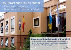 CARTEL Ayudas sociales mayores y personas con discapacidad 2019