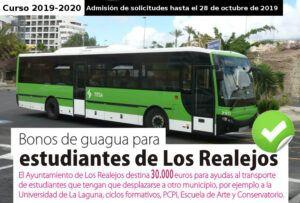 CARTEL SOLICITUD BONOS DE TRANSPORTE ESTUDIANTES 2019 2020