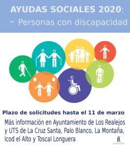 CARTEL AYUDAS PERSONAS CON DISCAPACIDAD 2020